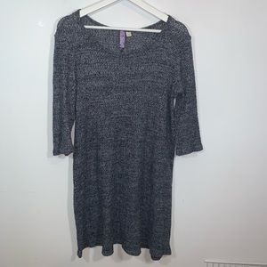 Alya L Gray Sweater Dress
